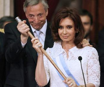 Cristina Fernandez y Nestor Kirchner
