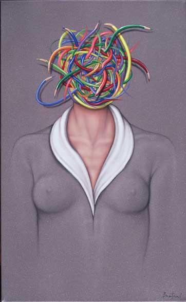 Ideas enredadas 80 x 50 cm 2009